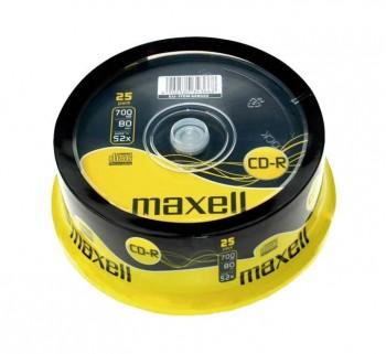 BOBINA 25UN CD-R MAXELL 700MB 52X SPINDLE