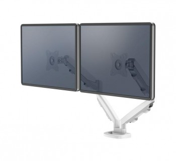 BRAZO MONITOR FELLOWES EPPA DOBLE BLANCO