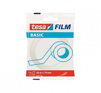 CINTA ADHESIVA TESA FILM BASIC TRANS. 66MX19MM
